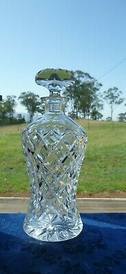 Vintage Bohemian Crystal Elegant Heavy Decanter Excellent Condition