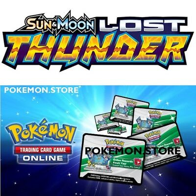 100 Lost Thunder Codes Pokemon TCG Online Booster - sent INGAME / EMAILED FAST!