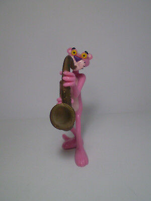 """Rare VTG  1995 Collectible PINK PANTHER Saxophonist 4"""" figure .United Artists Pr"""