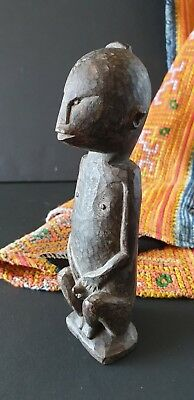 Old Borneo Dayak Miniature Wood Carving …beautiful detail and aged patina