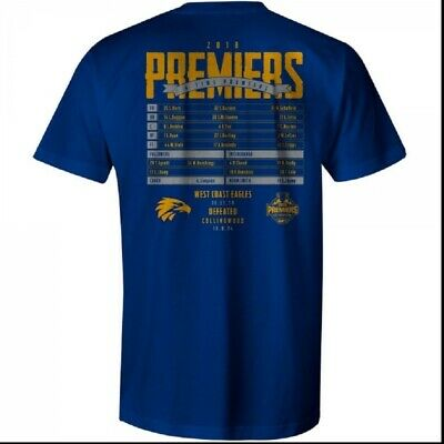 West Coast Eagles WCE Official AFL Premiership Mens T-Shirt Tee Grand Final 2018