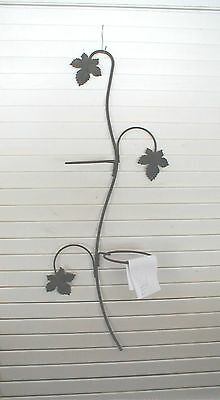 ANTIQUE/VTG WROUGHT IRON PLANT HOLDER  REPURPOSE VALANCE FENCE/PATIO DECOR iTEMe
