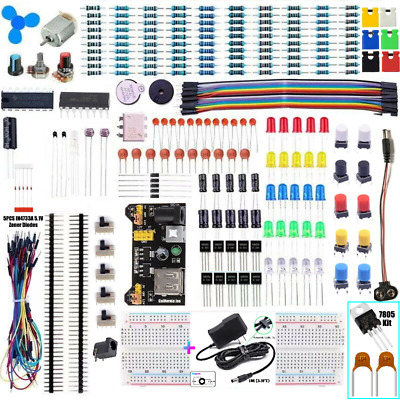 Transparent  830 POINT SOLDERLESS BREADBOARD& 65 PCS JUMPER CABLE &POWER  MODULE