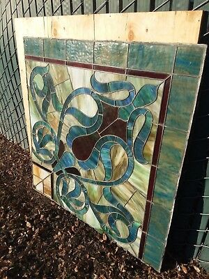 Antique French stained glass window