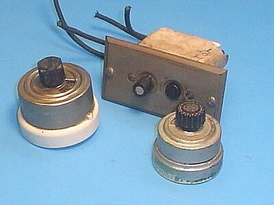 Antique/vintage Rotary And Push Button Light Switches