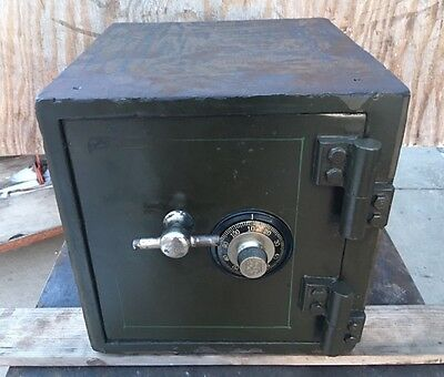 Antique Diebold Safe Money Chest With 5# Combination Wall