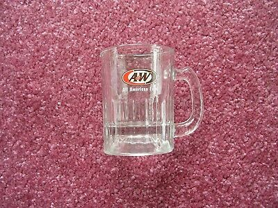 """A&W Root Beer Child Size Glass Mug 3 1/4"""" Tall"""