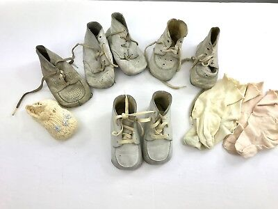 Vintage Baby Shoes and Socks 3 Pair of Shoes in Vintage Box