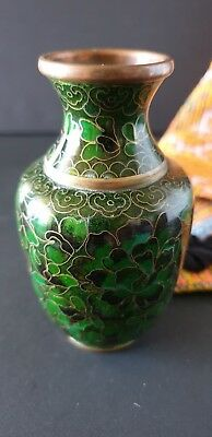 Old Chinese Copper / Green Cosamine Vase …beautiful collection and display piece