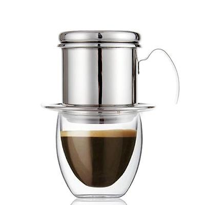 Stainless Steel Vietnam Coffee Dripper Cafe Latte Filter Cup Espresso Drip Maker