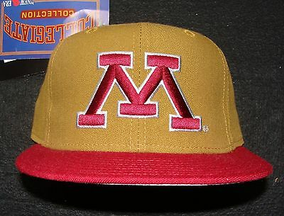 1990s MINNESOTA GOPHERS VINTAGE NEW ERA 100% WOOL 5950 FITTED CAP SIZE 6 3/4