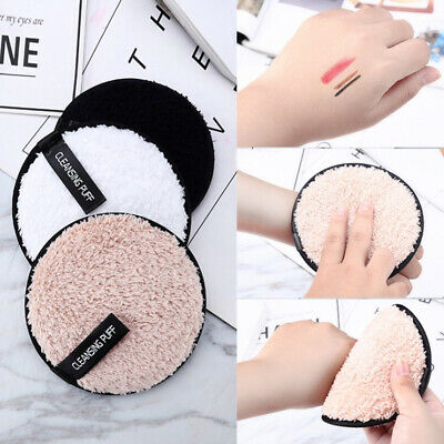 Reusable cleansing cloth pads plush puff face cleaner makeup remover towel ZY