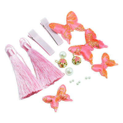 1 Set Cotton Fabric Butterflies Wings Craft Jewelry Bows Tassel Decoration