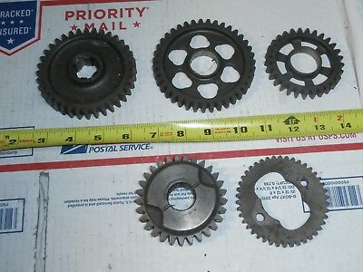 5 cast iron steampunk cog type spur gears machine age industrial lamp parts?