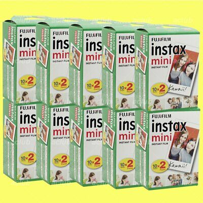 20 Sheet Fujifilm Instax Mini Instant White Film x 10 Pack