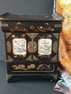 Old Asian Lacquered Writing Box for Restoration …beautiful collection & Display