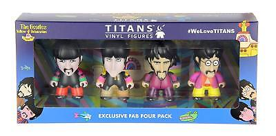 "Beatles Yellow Submarine Titans 3"" Vinyl Figures Exclusive Fab Four Pack NEW"
