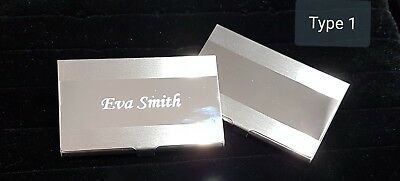 Stainless Steel Tow Tones Business Card Holder And Free Personalised Engraving