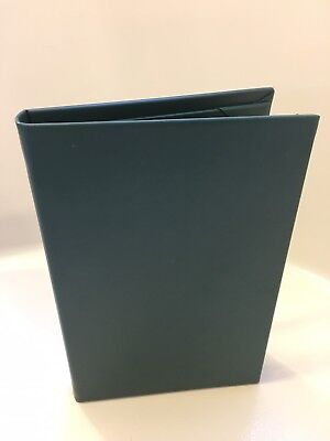 "(4 pk) Faux Leather Menu Covers, 3-panels, 4-Inserts 5.5"" x 8.5"", Forest Green"