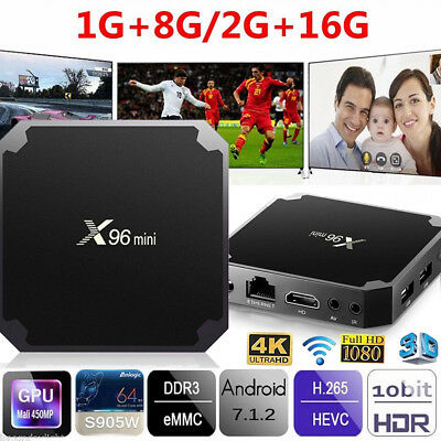 Android 7.1 X96 Mini HD 4K Smart TV BOX Amlogic Quad-Core WiFi Player Kodi 17.6