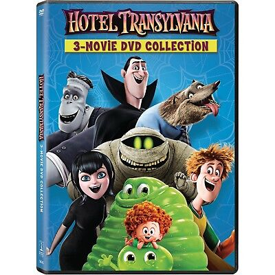 3 PG animated comedy movies: Hotel Transylvania 1 2 3 trilogy, new DVD Halloween