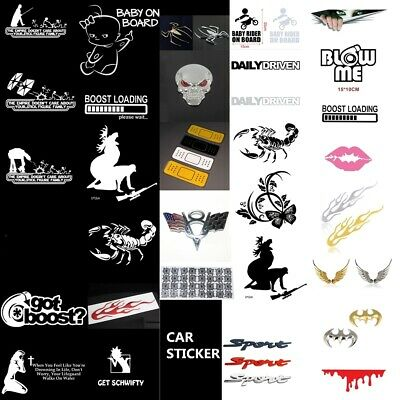 JDM Waterproof Funny Car Sticker Lowered Window Truck Boat Bumper Vinyl Decal
