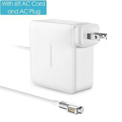 MacBook Pro Charger 60W Magsafe L-Tip Power Adapter with 6FT AC Extension Cable