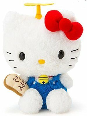 Sanrio Hello Kitty x Doraemon gadget cat plush soft stuffed toy cute 8""