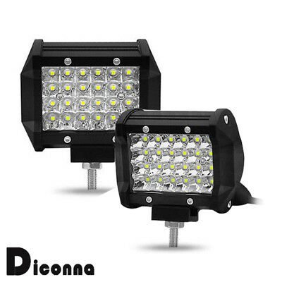 4 Inch 200W 24 LED Work Light Bar Flood Spot Combo Off-Road Lamp Car Truck