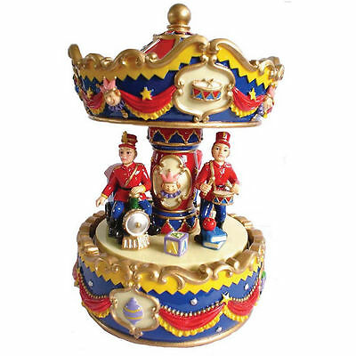 Red And Blue Soldier  Musical Carousel 17 Cm Approx 7 Inches  Gift Present Bnib