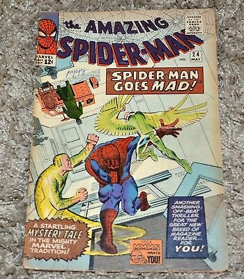 Marvel Comics Amazing Spiderman Vol 1 No 24 Year 1965