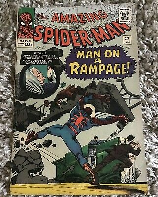 Marvel Comics Amazing Spiderman Vol 1 No 32 Year 1966