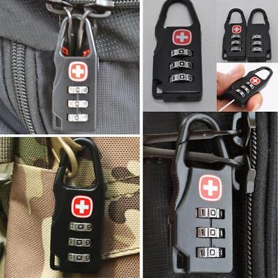Alloy Combination Code Number Lock Padlock for Luggage Zipper Backpack Han Tool