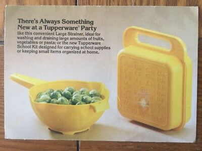 postcard used tupperware party invitation from 1982