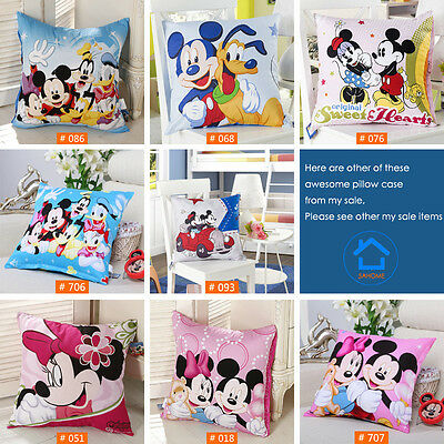 Popular Disney Mickey and Friends Cushions Decorative Pillow Case Smooth Cotton