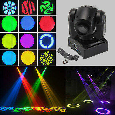 2tlg 30W RGB Spot Bühnenlicht GOBO Stage LED Moving Head RGBW DMX DJ Party Light