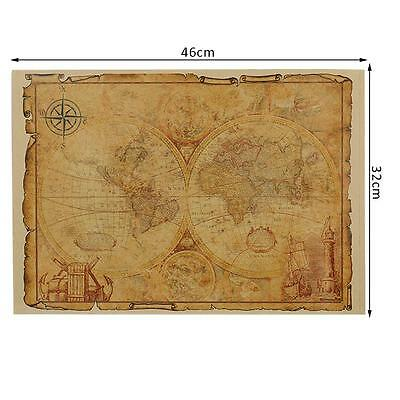 1pcs Large Vintage Style Retro Paper Poster Gifts 32 x 46 cm Globe World Map Old