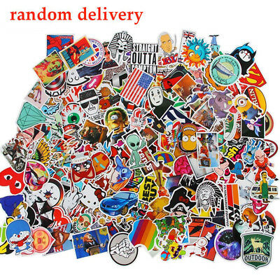 100 Pcs Random Stickers Decal Vinyl Skateboard Guitar Travel Case stickers pack