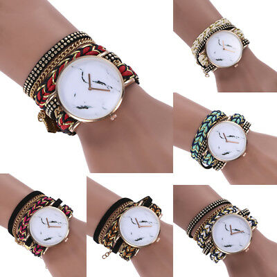 Fashion Womens Ladies Watch Stainless Steel Leather Bracelet Wrist Watches HW
