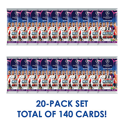 2018-19 Topps Match Attax Champions League 20 Packs Total 120 Cards