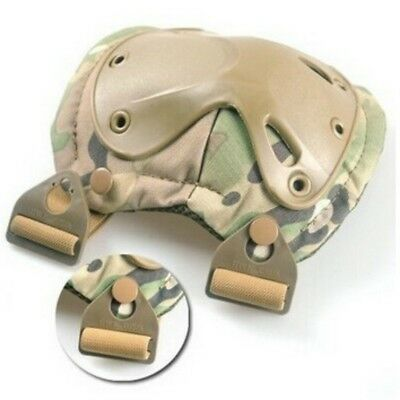Durable 2pc *Tactical Knee+2*Elbow Protector Pads Set Nylon Adjustable Fastener