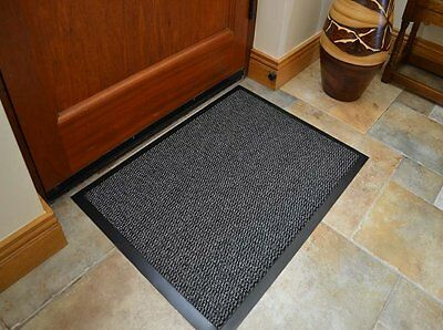 Hall Carpet Runner 80x60cm Hallway Rug Barrier Mat Dirt Stopper Non Slip Black