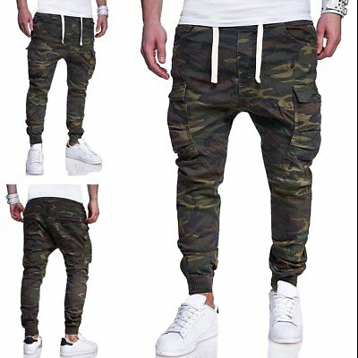 Men's Cargo Pants Combat Camouflage Camo Army Style Military Trousers