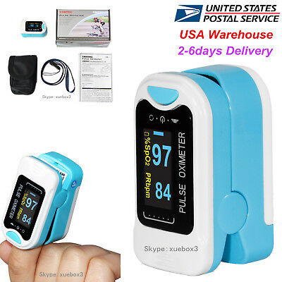 FDA CONTEC Finger tip Pulse Oximeter SpO2 Heart Rate Monitor Blood Oxygen meter