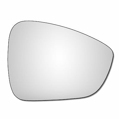 For Citroen C4 2004-2009 Passenger left hand side wing door mirror convex glass with backing plate