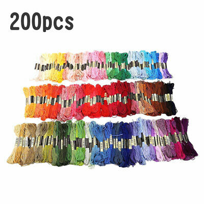 Silk rayon skeins large embroidery floss thread various assorted 14 colors