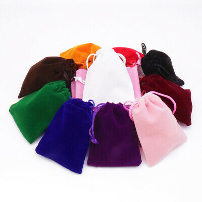 10pcs Velvet Cloth Jewelry Gift Bags Drawstring Pouch Wedding Candy Bag 9x12cm