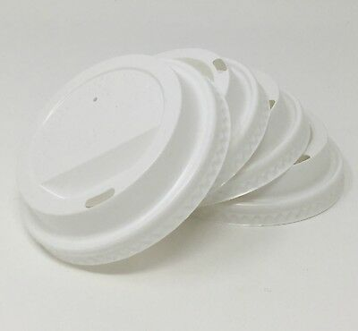 1000 White 90mm Budget Sip Lids for 12/16oz Ripple Cups In Cup Drinks Takeaway