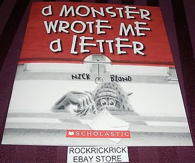 A Monster Wrote Me A Letter (Nick Bland) Paperback Book (2014) Brand New