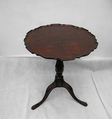Antique MAHOGANY TILT TOP PIE CRUST TABLE Mid-Georgian Tea Table c. 1750 style
